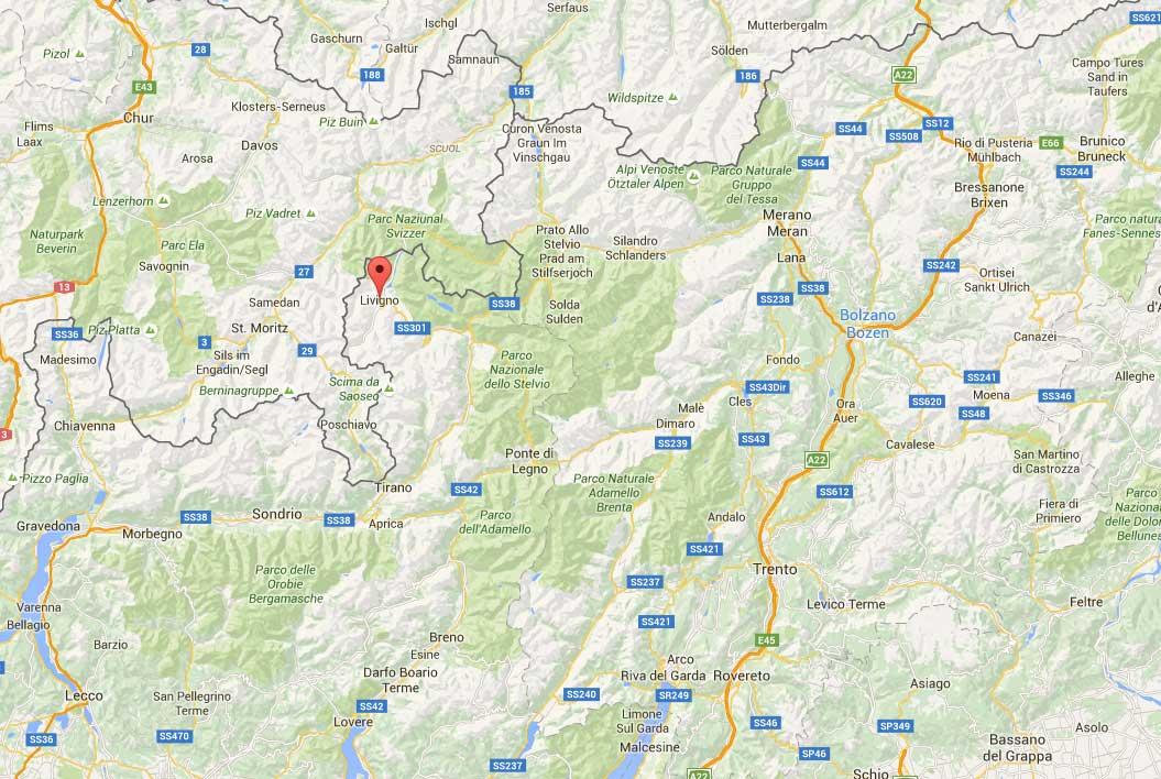 Livigno Cartina Paese My Blog