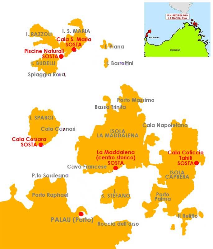 Santo Stefano Sardegna Cartina.Perle Di Sardegna L Arcipelago De La Maddalena Hotelfree It